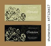 beautiful wedding invitations... | Shutterstock .eps vector #647126617