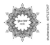 vector black and white text... | Shutterstock .eps vector #647127247