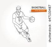 illustration of basketball... | Shutterstock .eps vector #647133487