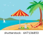 summer holidays on the beach  ... | Shutterstock .eps vector #647136853