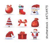 santa claus icon set | Shutterstock .eps vector #64714975
