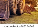 tractor loader close up. toned | Shutterstock . vector #647154367