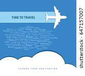 time for travel icon... | Shutterstock .eps vector #647157007