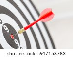 target dart arrow hitting in... | Shutterstock . vector #647158783