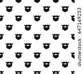 beard and mustache pattern...   Shutterstock . vector #647169253