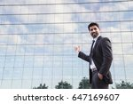 arabic smiling businessman or... | Shutterstock . vector #647169607