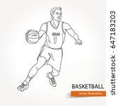 illustration of basketball... | Shutterstock .eps vector #647183203