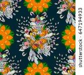 multicolor ornament of small... | Shutterstock . vector #647194933