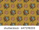 raster illustration with many... | Shutterstock . vector #647198203
