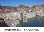 hoover dam and the mike o... | Shutterstock . vector #647200903