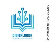 digital book   vector logo... | Shutterstock .eps vector #647203297