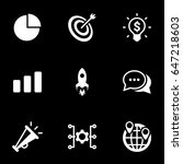 icons for theme marketing ... | Shutterstock .eps vector #647218603