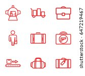 luggage icons set. set of 9... | Shutterstock .eps vector #647219467