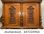 Ancient Wooden Cabinet With...