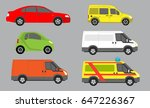 vector illustration of cars... | Shutterstock .eps vector #647226367