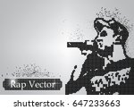 silhouette of a rap singer from ...