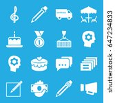 pictograph icons set. set of 16 ... | Shutterstock .eps vector #647234833