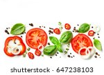 fresh vegetables  herbs and... | Shutterstock . vector #647238103
