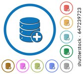 add to database flat color... | Shutterstock .eps vector #647239723