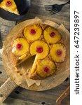 sweet homemade pineapple upside ...   Shutterstock . vector #647239897