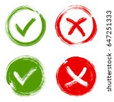 tick and cross test signs ... | Shutterstock .eps vector #647251333
