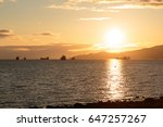 boats on sunset at english bay  ... | Shutterstock . vector #647257267