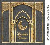 ramadan kareem greeting card...   Shutterstock .eps vector #647264767