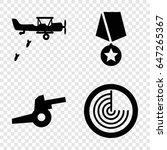War Icons Set. Set Of 4 War...
