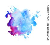 abstract hand drawn watercolor... | Shutterstock .eps vector #647268097