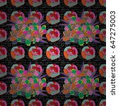 seamless floral pattern in...   Shutterstock .eps vector #647275003