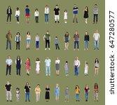diversity people set gesture... | Shutterstock . vector #647280577