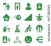 man icons set. set of 16 man... | Shutterstock .eps vector #647282563