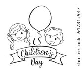 collection style childrens day... | Shutterstock .eps vector #647315947