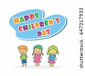 children's day vector... | Shutterstock .eps vector #647317933