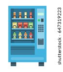 Vending Machine With Snacks An...
