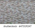 bricks wall | Shutterstock . vector #647319247