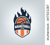 basketball sport logo template...   Shutterstock .eps vector #647321287