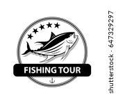 graphic fishing tuna  vector | Shutterstock .eps vector #647329297