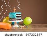 Chocolate Birthday Cake With...
