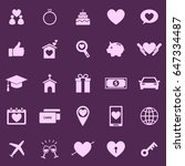 family color icons on purple... | Shutterstock .eps vector #647334487