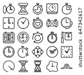 second icons set. set of 25... | Shutterstock .eps vector #647342617