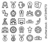 win icons set. set of 25 win... | Shutterstock .eps vector #647349073