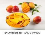 fresh tropical sweet mango... | Shutterstock . vector #647349403