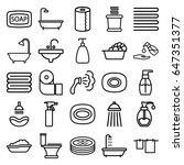 bath icons set. set of 25 bath... | Shutterstock .eps vector #647351377