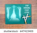 stop smoking start living word... | Shutterstock . vector #647415403