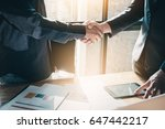 young businessmen collaborate... | Shutterstock . vector #647442217