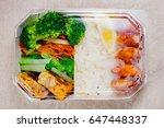 homemade lunch for asian bento...   Shutterstock . vector #647448337