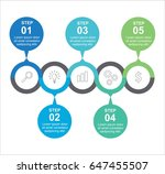 circle infographic linked five... | Shutterstock .eps vector #647455507