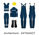 man worker in professional... | Shutterstock .eps vector #647464627