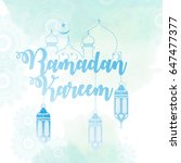 vector illustration for ramadan ... | Shutterstock .eps vector #647477377